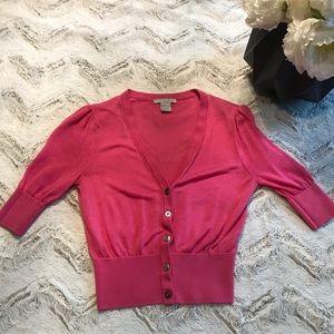 H&M Pink Cardigan GUC Small